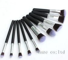10pcs Kabuki Style Professional Make Up Brush Foundation Blusher Face Powder New
