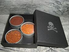 Habanero Chili, Birdeye Chili und Chipotle (Jalapeno) im passenden Geschenketui.