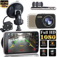 "Dual Lens Camera HD Car DVR Dash Cam Video Recorder G-Sensor Night Vision 4"""
