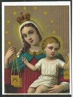 Lamina Litografica antigua la Virgen del Carmen andachtsbild santino holy card