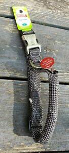 "Kong Reflective LARGE Dog Padded Rope Collar Grey Neck Size 19"" - 26"""