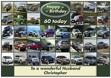 Personalised Land Rover Timeline Inspired Birthday Card - Stunning !