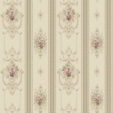 York DELICATE ROSE STRIPE AV2812 Wallpaper  DOUBLE ROLL