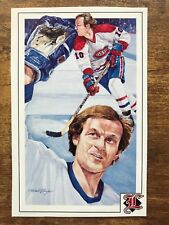 1992 Legends Sports Memorabilia Postcard #5 Guy Lafleur Montreal Canadiens NM