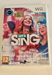 Nintendo Wii Let's Sing 2017 PAL UK CIB VGC