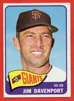 1965 Topps #213 Jim Davenport EX-EXMINT+ San Francisco Giants FREE SHIPPING