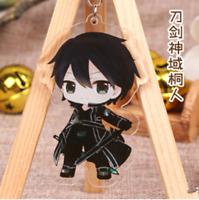 Anime Sword Art Online Kirigaya Kazuto Acrylic Key Ring Pendant Keychain Gift