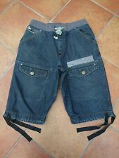 VOI JEANS FLIPPER RAW SHORTS W32  ELASTICATED WITH PULL CORDS