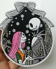 Nightmare Before Christmas Embroidered Patch Iron On Gothic Halloween Skeleton