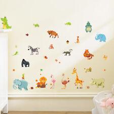 jungle adventure animals wall stickers for kids rooms safari nursery roomsDecorR