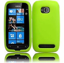 Silicone Skin Case for Nokia Lumia 710 - Green