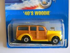 ULTRA RARE~ '40'S WOODIE~-BLUE CARD-#51-HOT WHEELS-ORIGINAL-VHTF-COLLECTORS