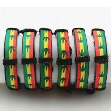 Trendy Retro Ganja Raggae Pot Charm Marijuana Bracelet Weed Bangle Rasta Design