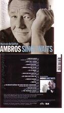 CD--WOLFGANG AMBROS UND VARIOUS -- -- AMBROS SINGT WAITS-NACH MIR DIE SINTFLUT