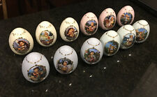 M.J. Hummel Porcelain Egg Collection by Danbury Mint Set of 12