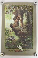 "Remington Brings Back Trapper Knife Poster 20"" x 30"" LW Duke 1988 New Old Stock"