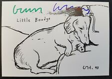 Little Boodge by artist David Hockney - Hand Signed Autograph on small print