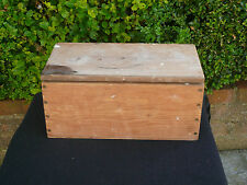 Vintage Wooden Tool Box Storage Cabinet Wood Chest Sewing Box Hobbies Crafts