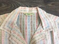 Atomic California Made Shirt Rockabilly Vintage 50s Button Loop 0==0 Nice