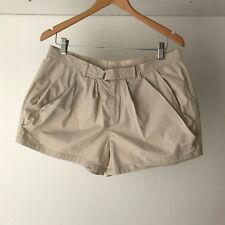 Witchery Womens 100% Cotton Shorts in Beige, Size 12