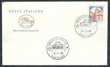 1983 ITALIA FDC CAVALLINO CASTELLI 1400 LIRE NO TIMBRO ARRIVO - EDG40