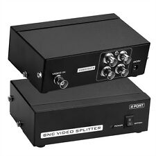 BNC 4 Port  Video Verstärker Splitter Distributor Schwarz CCTV DVR 50Hz-5.5MHz
