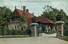 Vintage 1909 Cleveland, Ohio Entrance to Forest Hill Cemetery Printed Postcard