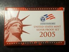 2005 S US Mint Silver Proof Set with Box/COA  - US Coins