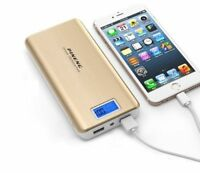 200000mah GOLD Power Bank with display Charger Battery External Universal Iphone