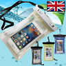 Waterproof Universal Underwater Cell Phone DRY BAG pouch case WITH WATER SENSOR