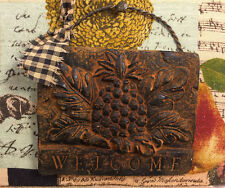 Beeswax Blackened Cinnamon Scented Pineapple Welcome Folk Art Primitive Decor