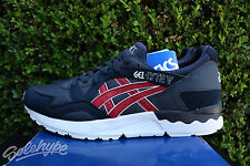 ASICS GEL LYTE V 5 SZ 8 OLYMPIC INDIA INK BURGUNDY HN6A4 5026
