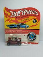 Vintage Redline Hot Wheels HK Hot Heap Red-Rough Blister Package-Original 16-Yr1
