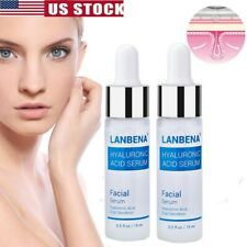 Hyaluronic Acid 100% Pure Anti Aging Hydrating Serum Plumps Wrinkles Fine Lines