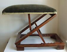 Antique mahogany adjustable gout/foot stool