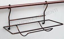 cesto porta scottex per tubo portamestoli cucina sottopensile colore rame antico