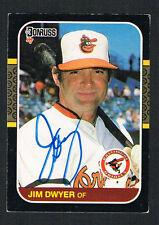 Jim Dwyer #418 signed autograph auto 1987 Donruss Baseball Trading Card