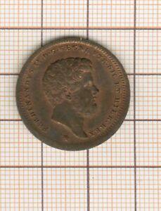 Sicilia Nápoles Ferdinand II 2 Tornesi 1852: Calidad Raro