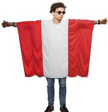 Unisexe autriche drapeau poncho Adultcon autriche fancy dress partisan costumes