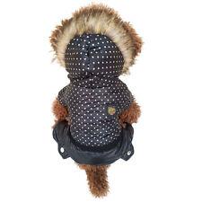 New Hooded Dot Pattern Pet Dog Warm Jacket Winter Coat Small Puppy Dog Clothing