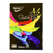 Bloque de A4 Supremo Sketch Pad 20 Hojas (40 lados) 100 Gr Cojín de papel