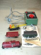 Lot of Fleischmann German Trains Cars Etc with Euro Controller with Crane