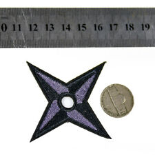 2Pcs Ninja Weapon Shuriken Patch Embroidered Iron on applique Japan NARUTO DIY