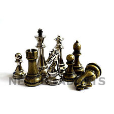 Jene Chess PIECES ONLY Metal Set, X LARGE 4.5 Inch King, EXTRA QUEENS, NO BOARD