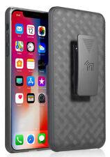 """Negro Soporte Funda + Funda con Clip para Cinturón Para Apple IPHONE Xs Max 6.5"""""""