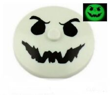LEGO Glow-in-the-Dark GHOST FACE ~ Printed 4x4 Inverted Radar Disc Dish  * NEW *