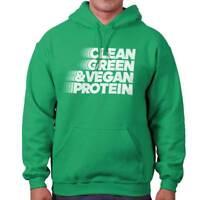 Clean Green Vegan Protein Sarcastic Gift Hoodies Sweat Shirts Sweatshirts