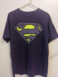 Purple Bizarro Superman XL Vintage T-Shirt