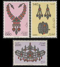 ALGERIE N°724/726** bijoux, 1980 Algeria  jewelry Sc#652-654 MNH