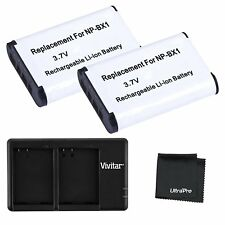 Ultrapro 2x NP-BX1 Battery with USB Dual Charger for Select Sony Cameras